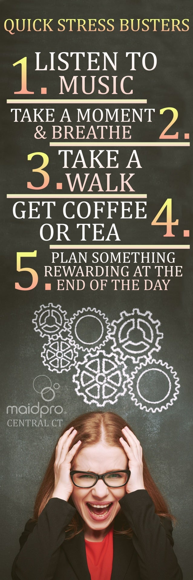 GETCOFFEE ORTEA QUICKSTRESSBUSTERS 1.LISTENTO MUSIC CENTRALCT 2.TAKEAMOMENT &BREATHE TAKEA WALK 4. 3. 5.PLANSOMETHING REWA...
