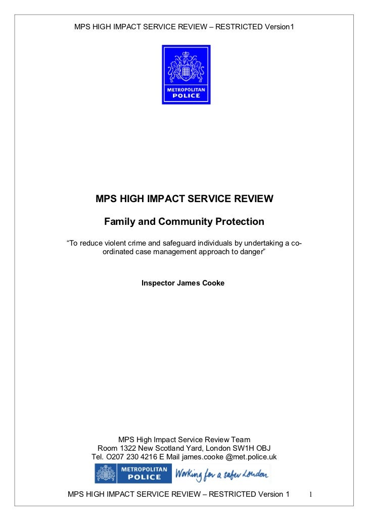 MET Police Service Review 2005-2006