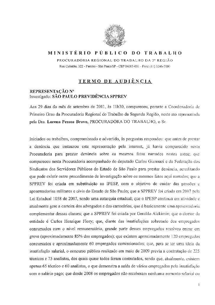Denúncia no MPT