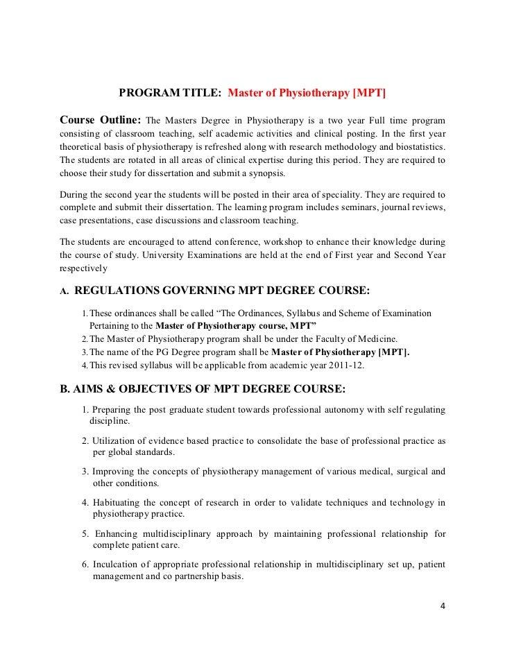 mpt ortho dissertation topics