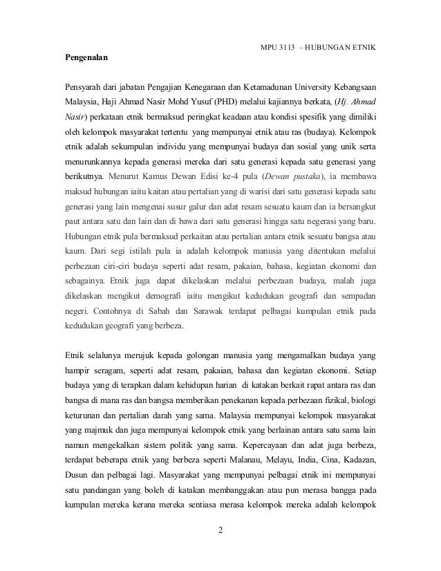 Mpu3113 Hubungan Etnik