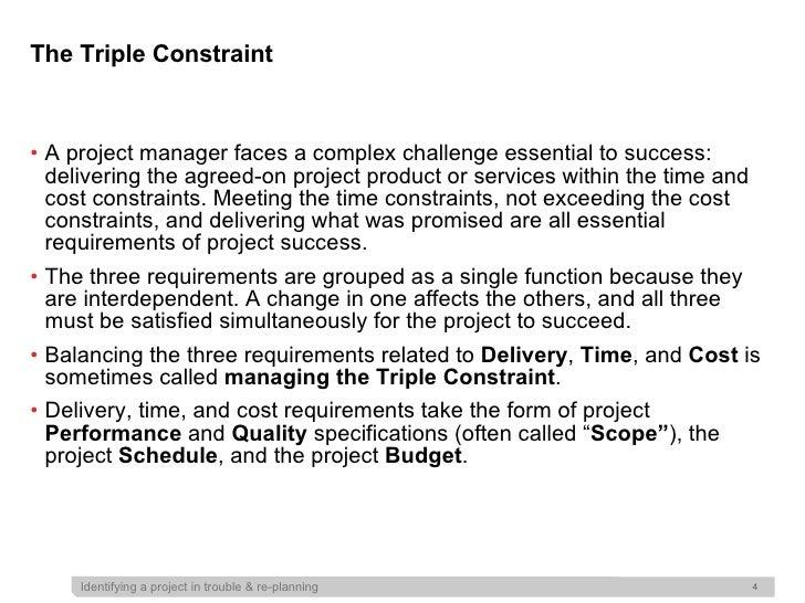 triple constraints of project management pdf