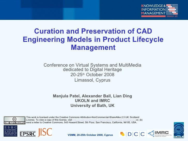 Curation and Preservation of CAD Engineering Models in Product Lifecycle              Management                   Confere...