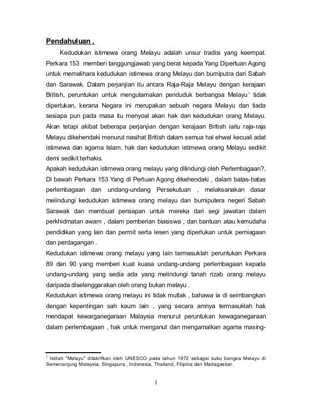 Hak Istimewa Orang Melayu Pdf