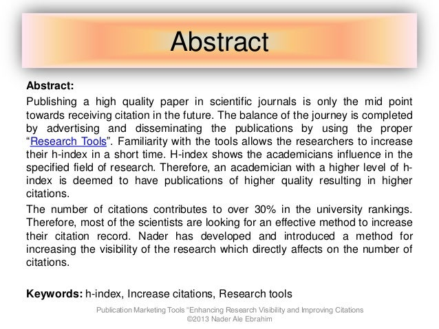 how to write an abstract for a scientific meeting