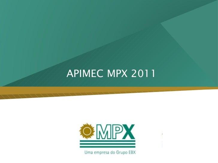 APIMEC MPX 2011