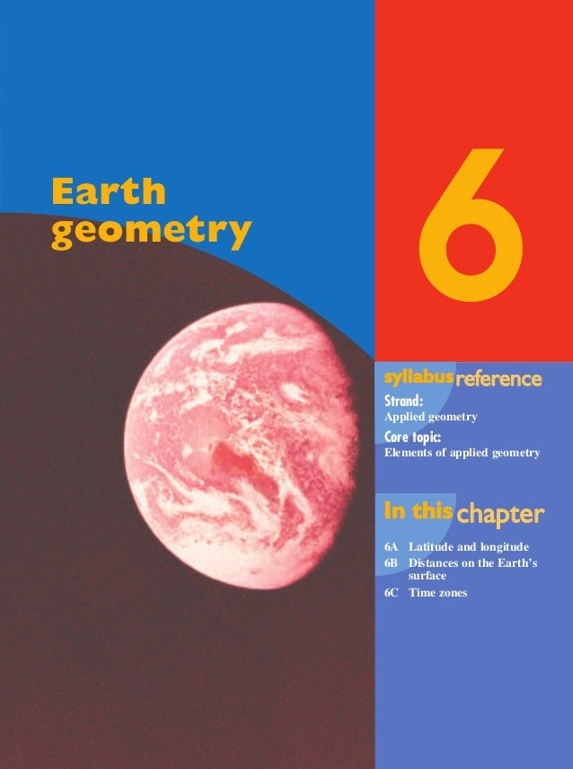 6syllabussyllabusrrefefererenceence Strand: Applied geometry Core topic: Elements of applied geometry In thisIn this chach...