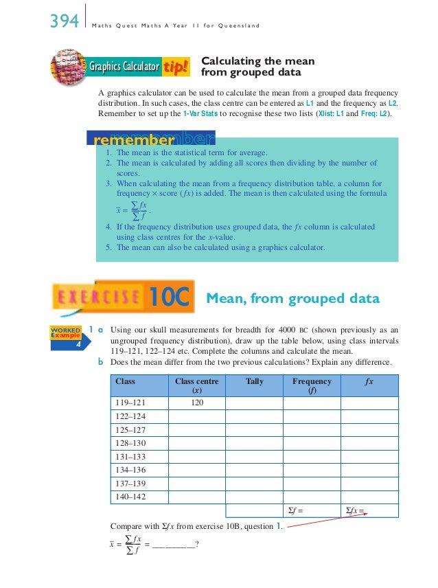 Maths A - Chapter 10