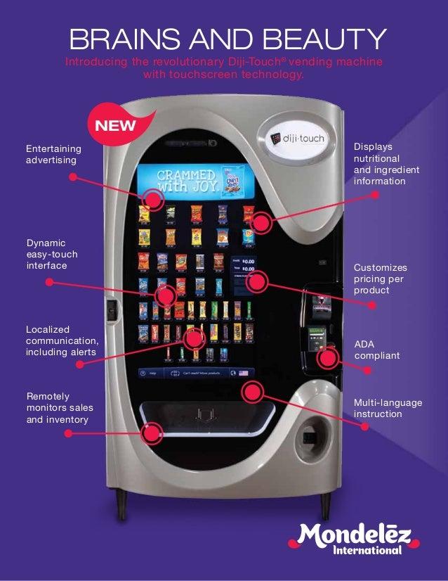 vending machine touch screen interface
