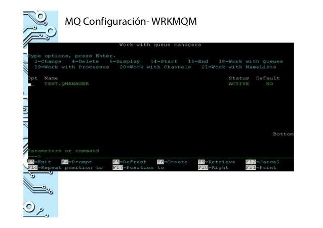 MQ Configuración- WRKMQM