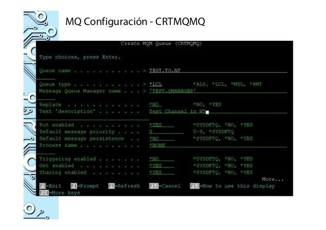 MQ Configuración - CRTMQMQ