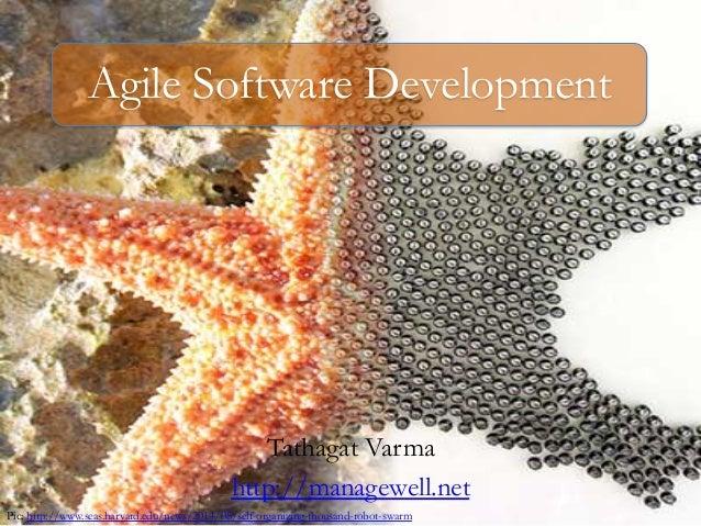 Agile Software Development  Tathagat Varma  http://managewell.net  Pic: http://www.seas.harvard.edu/news/2014/08/self-orga...