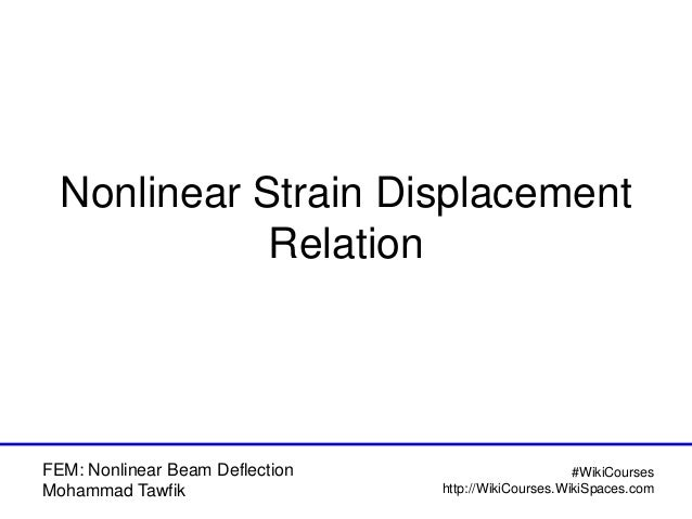 FEM: Nonlinear Beam Deflection Model (with Temperature) Slide 2