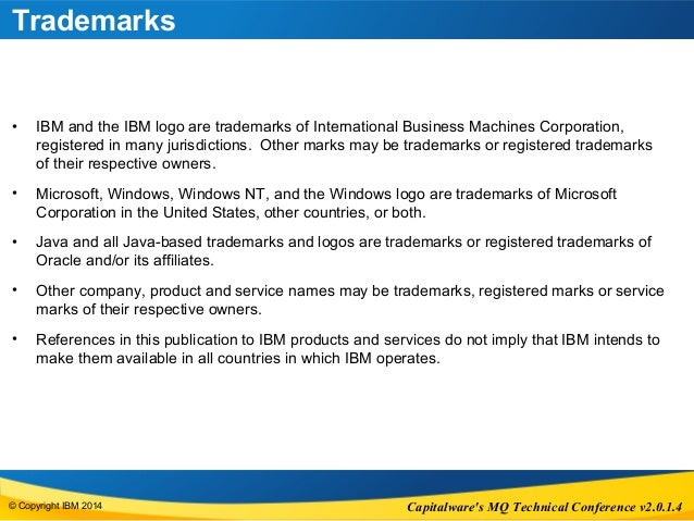 WebSphere MQ JMS 2.0 - Capitalware MQTC Conference Slide 3