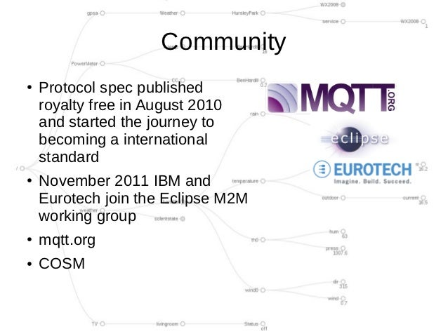 Community●   Protocol spec published    royalty free in August 2010    and started the journey to    becoming a internatio...