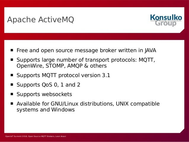 Open Source MQTT Brokers