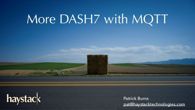 More DASH7 with MQTT