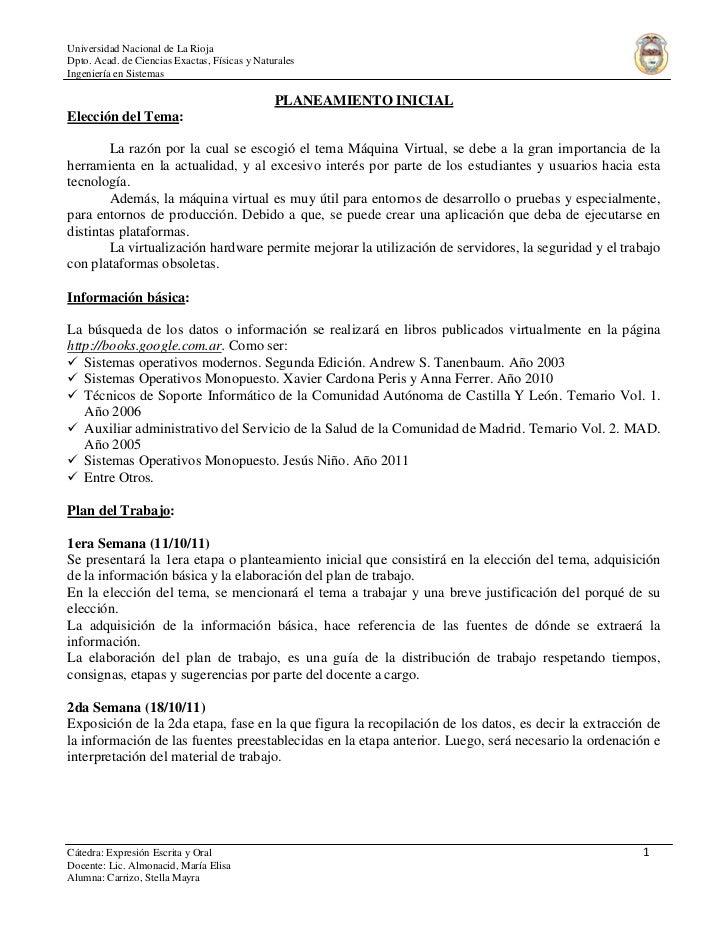 Universidad Nacional de La RiojaDpto. Acad. de Ciencias Exactas, Físicas y NaturalesIngeniería en Sistemas                ...