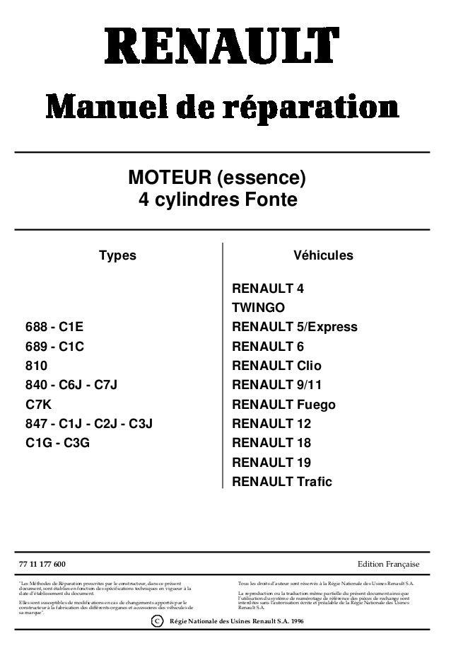 """""""Les Méthodes de Réparation prescrites par le constructeur, dans ce présentdocument, sont établies en fonction des spécifi..."""