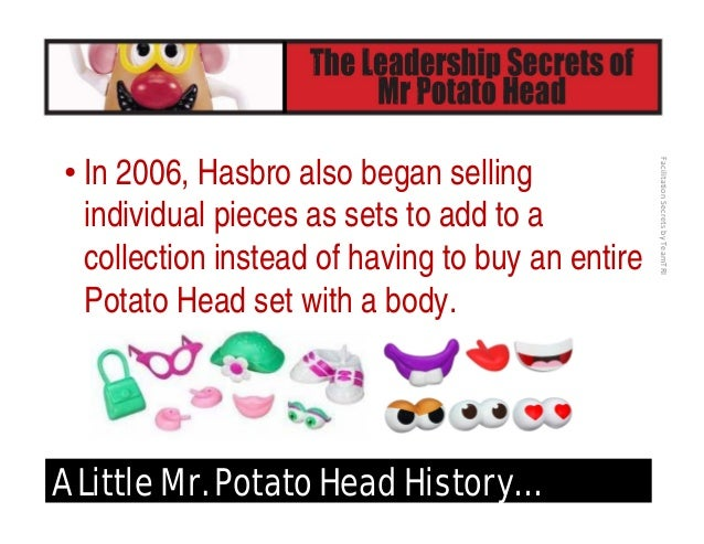 FacilitationSecretsbyTeamTRI A Little Mr. Potato Head History… • 2010 – Stars again in the hit Disney-Pixar Franchise w...
