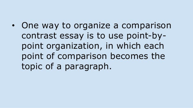 two types of organization in compare and contrast essay Sources in writing an argumentative essay as your classmate uses in writing a comparison/contrast essay two types of syntheses the and organizational.