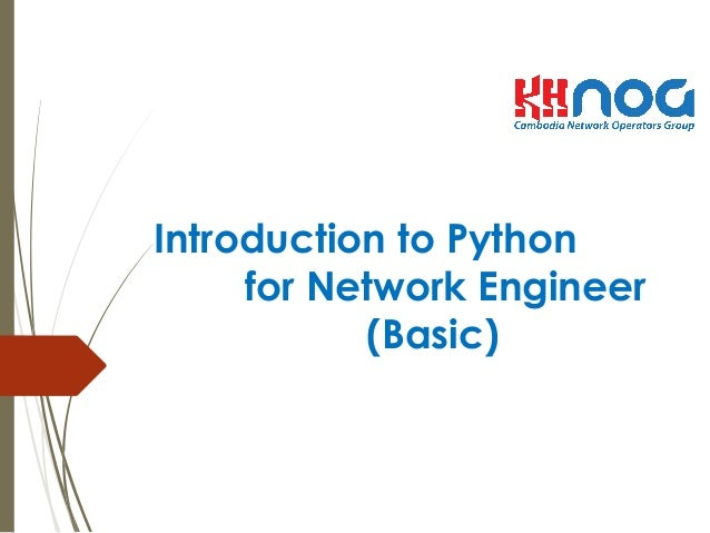 Introduction to Python for Network Engineer (Basic)