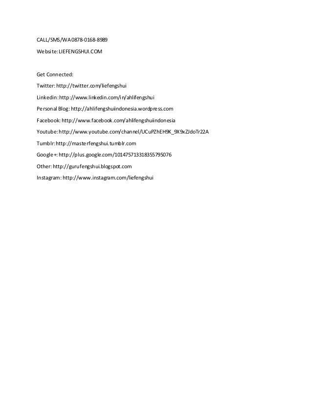 Wa 0878 0168 8989 ahli fengshui ramalan nama dan tanggal lahir ar untuk informasi dankonsultasi tentangfengshui silahkanhubungi lie fengshui 2 reheart Image collections