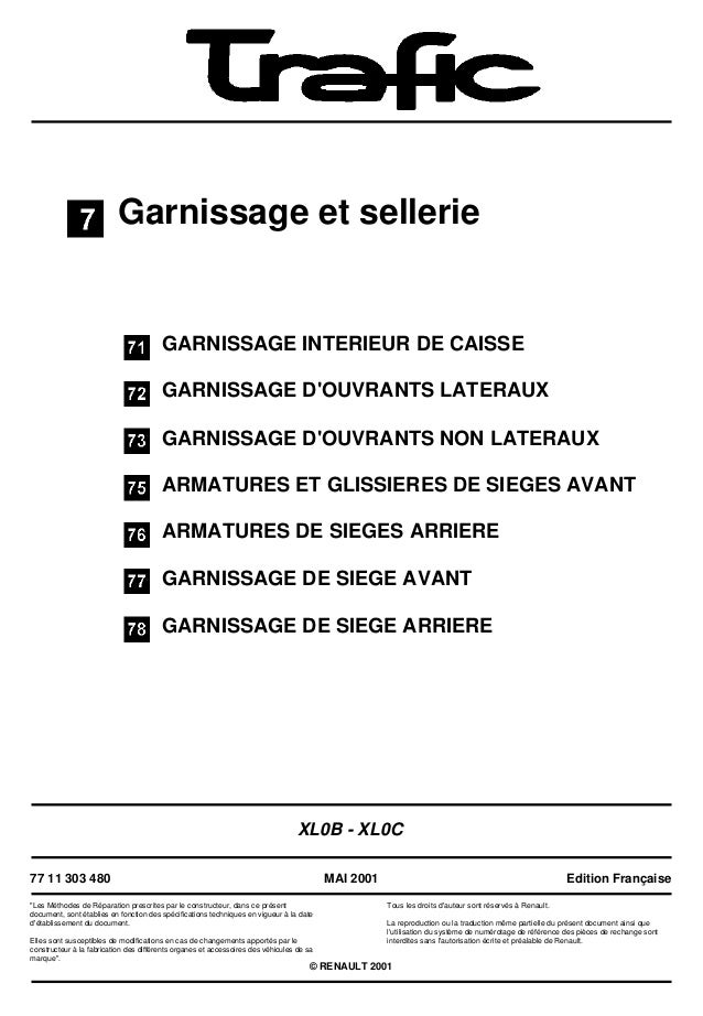 Garnissage et sellerieGARNISSAGE INTERIEUR DE CAISSEGARNISSAGE DOUVRANTS LATERAUXGARNISSAGE DOUVRANTS NON LATERAUXARMATURE...