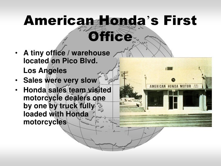 American Hondas First Officeo