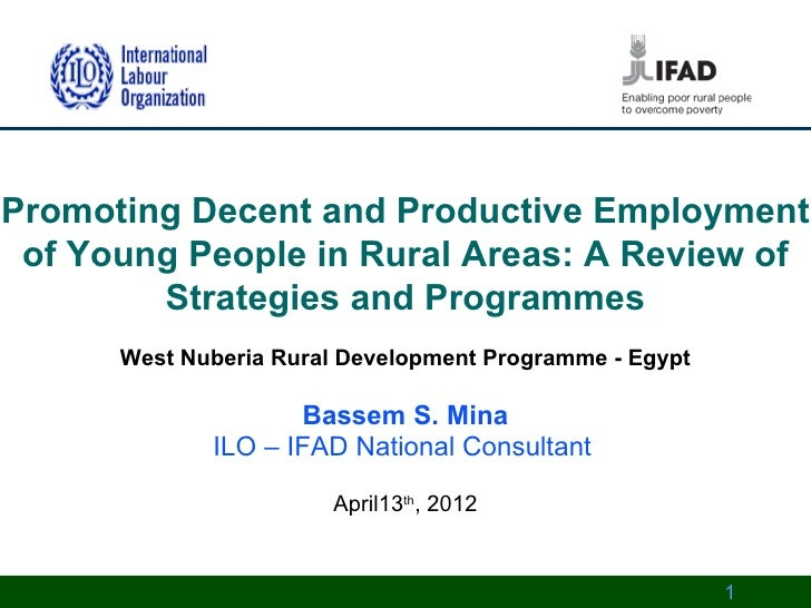Promoting Decent and Productive Employment of Young People in Rural Areas: A Review of        Strategies and Programmes   ...