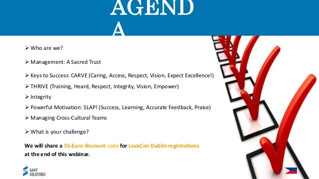 AGEND A  Who are we?  Management: A Sacred Trust  Keys to Success: CARVE (Caring, Access, Respect, Vision, Expect Excel...