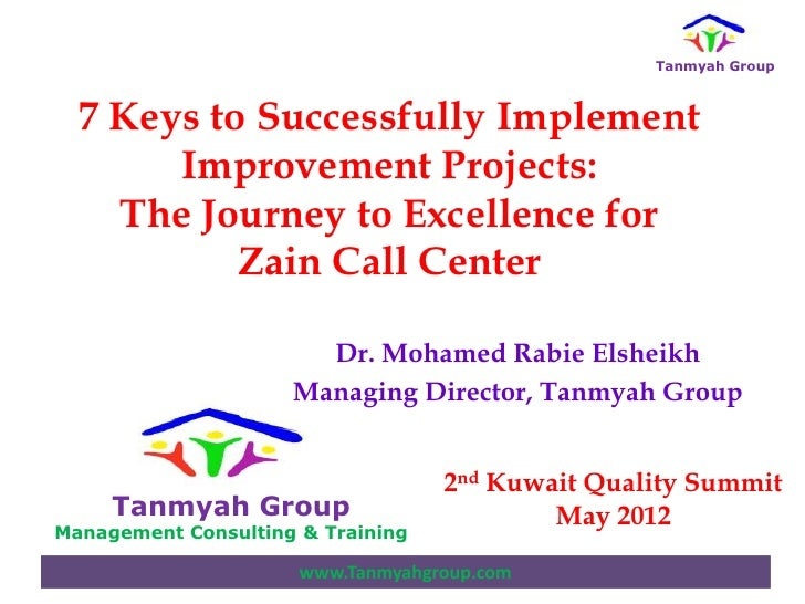 Mr  mohammed rabei 7 keys to successfully implement