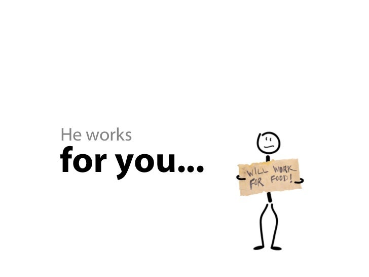 He promotes   you...