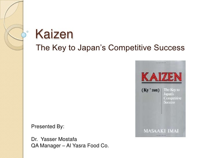 "Kaizen The Key to Japan""s Competitive SuccessPresented By:Dr. Yasser MostafaQA Manager – Al Yasra Food Co."