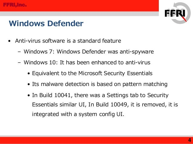 MR201503 Windows 10 Technical Preview Security Overview