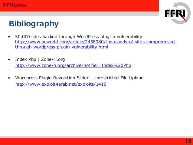 MR201504 Web Defacing Attacks Targeting WordPress