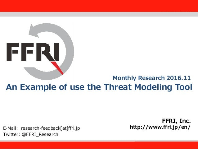 An example of use the threat modeling tool (ffri monthly research nov….