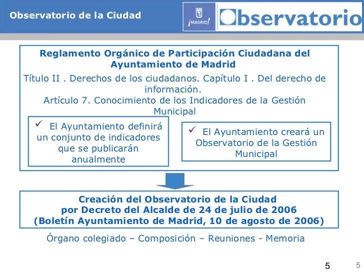 El observatorio de la ciudad de madrid instrumento de for Oficina de empleo madrid usera
