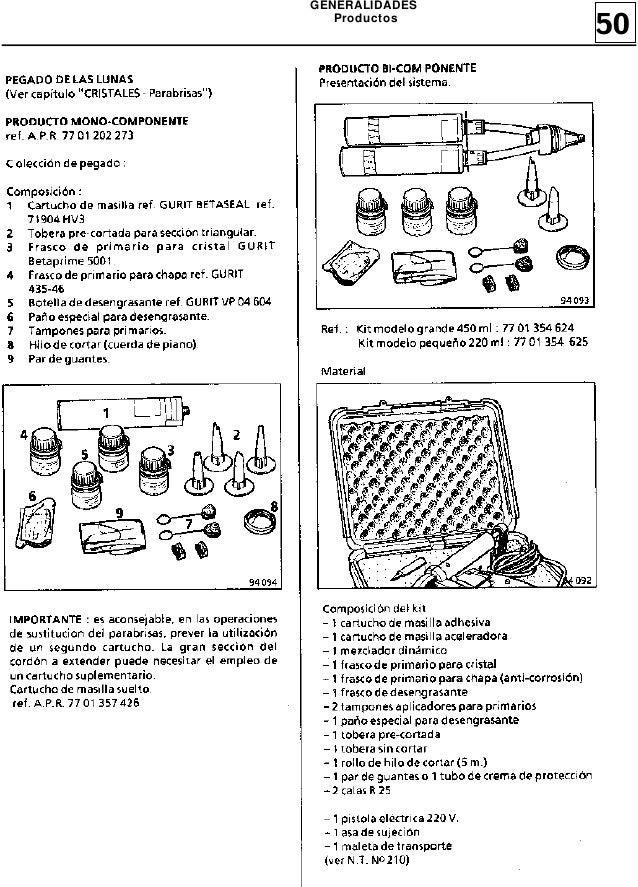 Manual de Reparacion MR305 Twingo 1(Utillajes, Mecanismos