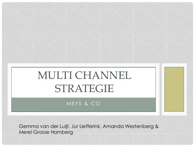 M E Y S & C OMULTI CHANNELSTRATEGIEGemma van der Luijt, Jur Liefferink, Amanda Westenberg &Merel Grosse Hamberg