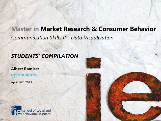 Master in Market Research & Consumer BehaviorCommunication Skills II - Data VisualizationSTUDENTS' COMPILATIONAlbert Ramir...