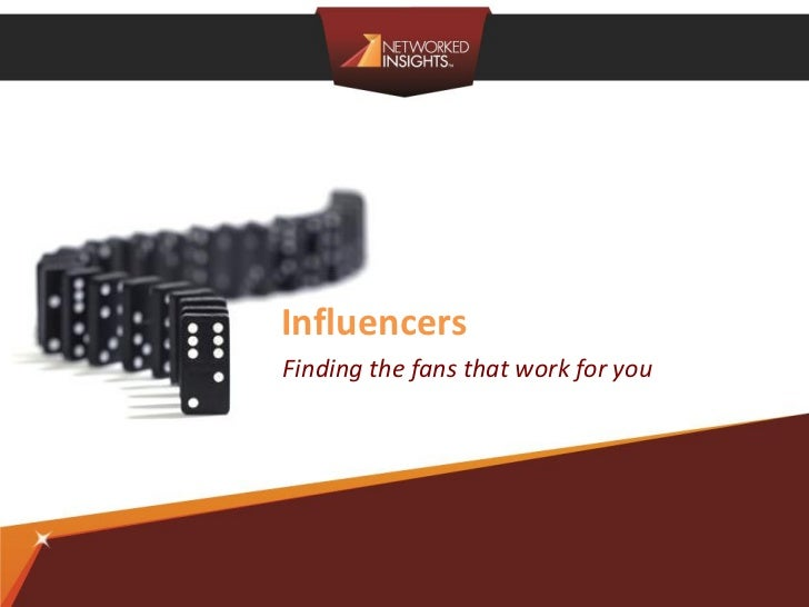 InfluencersFinding the fans that work for you                Privileged & Confidential | ©2012 Networked Insights