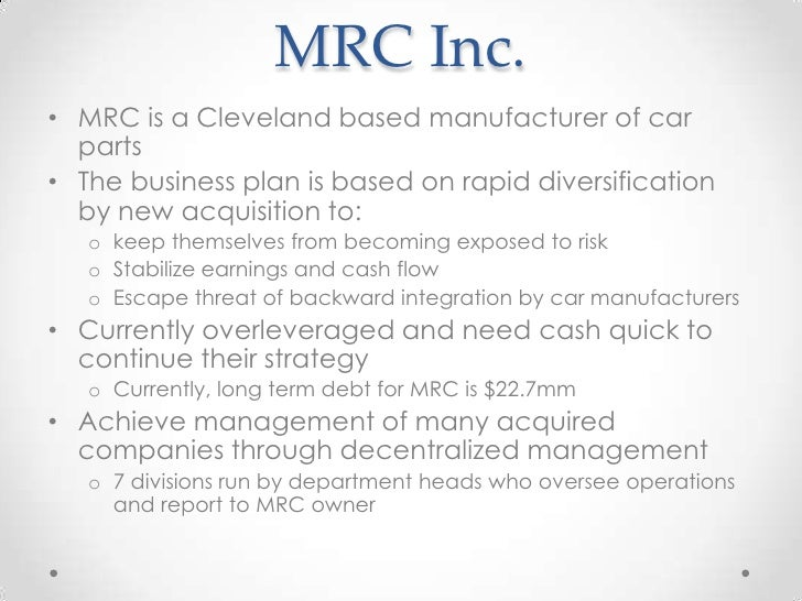 MRC, Inc. (B) Case Study Analysis & Solution