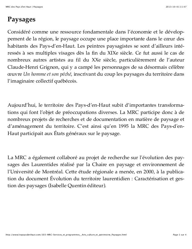 2013-10-01 11:47MRC des Pays d'en Haut | Paysages Page 1 sur 4http://www.lespaysdenhaut.com/103-MRC-Services_et_programmes...