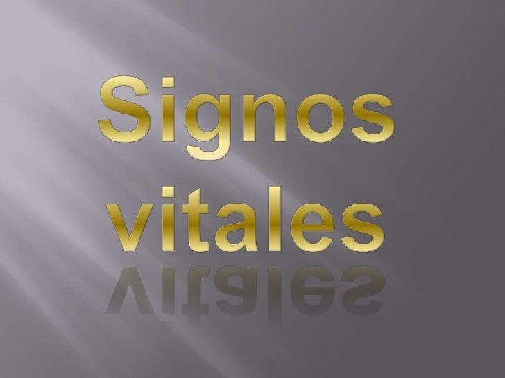 Signosvitales<br />
