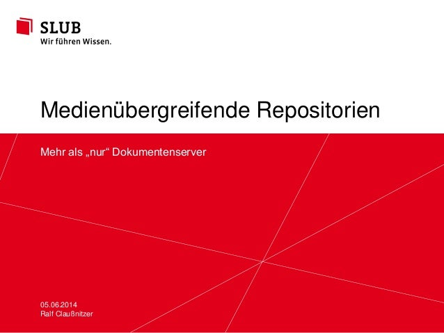 """Sächsische Landesbibliothek – Staats- und Universitätsbibliothek Dresden slub-dresden.de © by SLUB Dresden Mehr als """"nur"""" ..."""