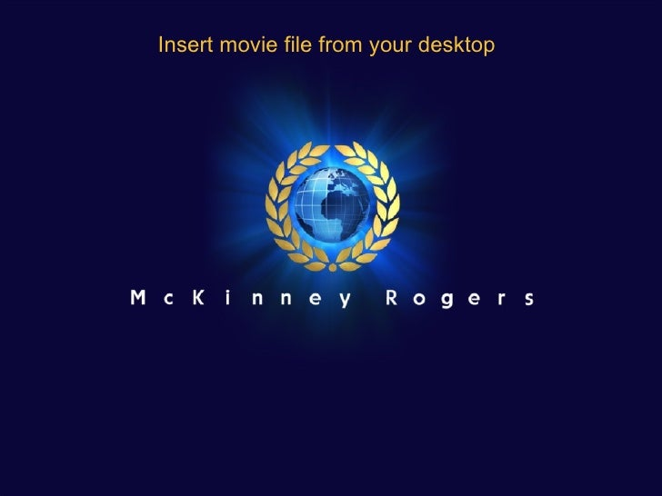 Insert movie file from your desktop