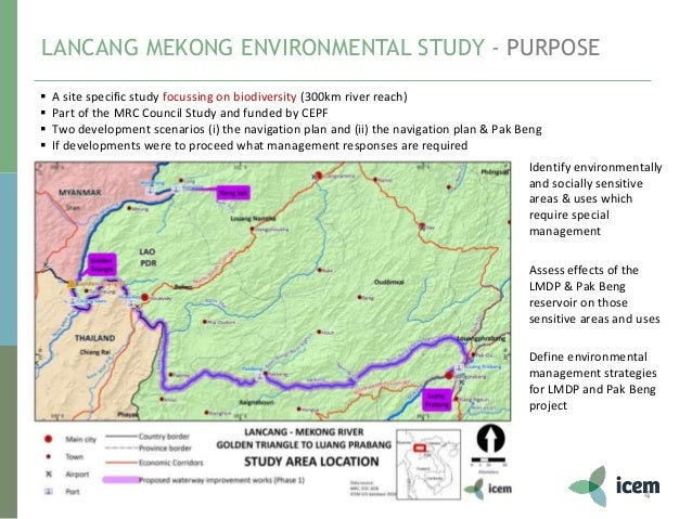Lancang-Mekong Development Plan Environmental Study - Findings and on