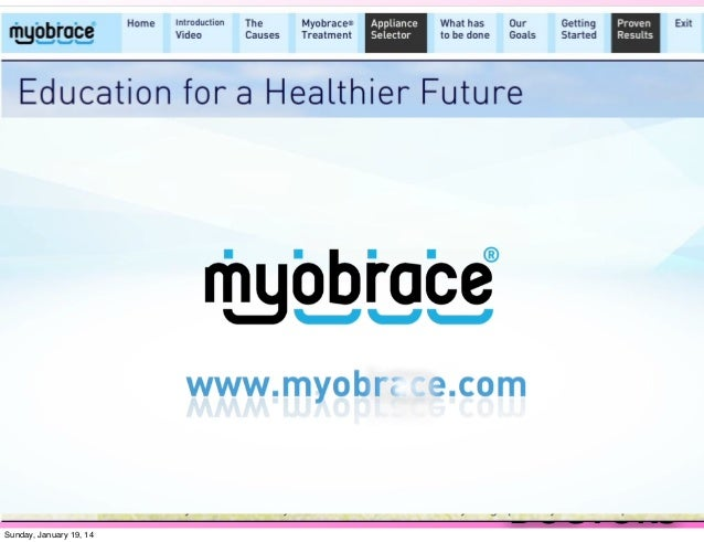 MRC Myobrace Beginner Course 2014 Part 3