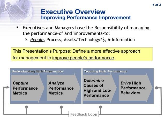 Improving Performance Improvement Market Requirements Document MRD - Market requirements document